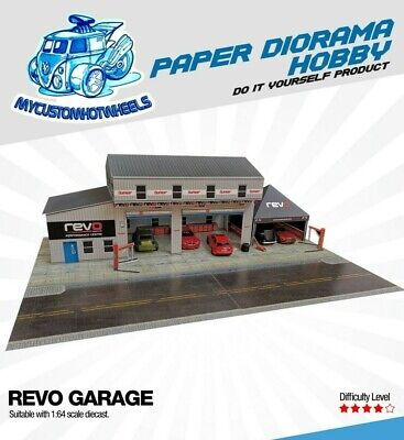 1:64 Scale Revo Garage Workshop & Canopy - Diorama Building Kit For Hot Wheels • 16.63£