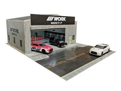1:64 Scale WORK Garage Workshop - Diorama Building Kit For Hot Wheels • 13.29£
