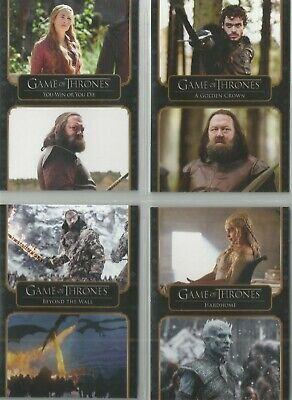 Game Of Thrones The Complete Series - Complete 73 Card Base Set • 9.99£