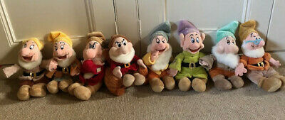 Official Disney Seven Dwarfs, Soft Toys- All 7, Excellent Condition, Approx 30cm • 11.90£