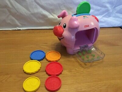 Fisher-Price CDG68 Laugh & Learn Smart-Stages Piggy Bank - Pink • 2£