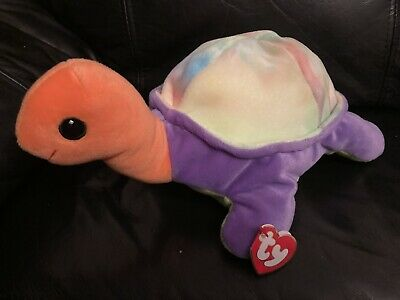 TY Pillow Pals Snap The TORTOISE Plush Rainbow MultiColour Soft Toy Rare Retired • 4.49£