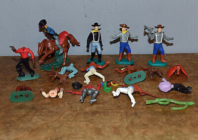 Unbranded Mixed Toy Soldiers Swoppet Type Western Figures & Pieces • 4.50£