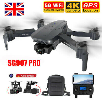 SG907 Pro 5G Wifi GPS RC Drone 4K Camera 2-axis Gimbal RC Quadcopter With Bag • 112£