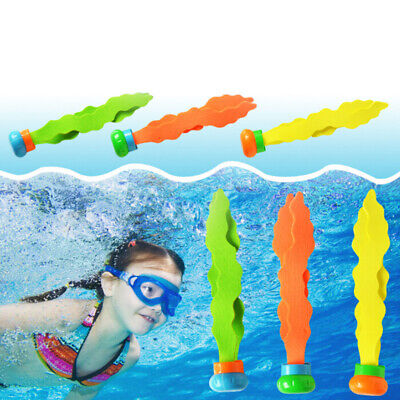 3pcs Children Diving Swimming Colorful Pool Sink Training Diving Seaweed Toy P5 • 4.18£