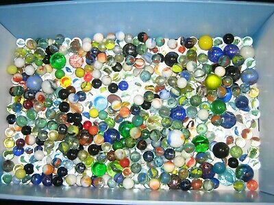 Collection Of Old Glass Marbles Job Lot Antique Vintage, Over 400 • 9.99£