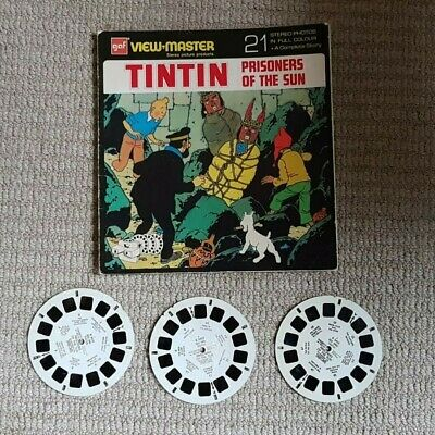 *RARE* Tintin Prisoners Of The Sun - Viewmaster 3 Reels & Booklet - VINTAGE B542 • 12.07£