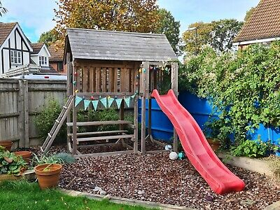 Fantastic *Wooden Climbing Frame* With Ladder, Slide And Table - Crawley • 150£