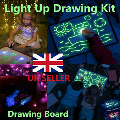 Draw With Light Fun & Developing Toy Drawing Board Magic Draw Educational Gift • 5.99£