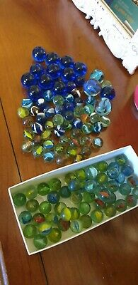 Vintage Glass Marbles Joblot  • 5£