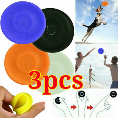 3x Pocket Flexible Catching Flying Disc Soft Mini Frisbees Sports Finger Spin ` • 4.95£