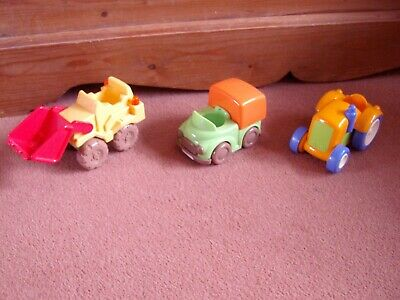 Unbranded Vehicles X 3 Digger - Tractor - Lorry/Van With Room For 3 Round Figure • 4.99£