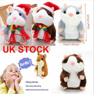 Talking Cute Pet Hamster Electronic Plush Toy Sound Record Educational Kids Toys • 5.99£