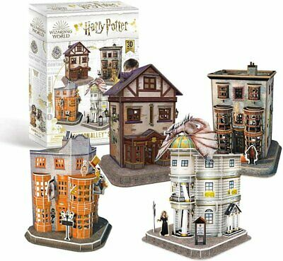 Harry Potter DIAGON ALLEY 4 In 1 3D Jigsaw PUZZLE SET 273 Pieces • 25.25£