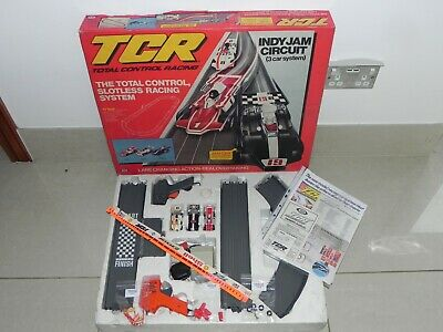 RARE Ideal TCR Indy Jam Circuit 3 Car Race Set  - Restored And Ready To Race  • 85£