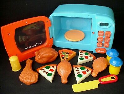 Microwave With Sounds & Lights + Play Pretend Food Huge Bundle Children's Toys • 14.75£