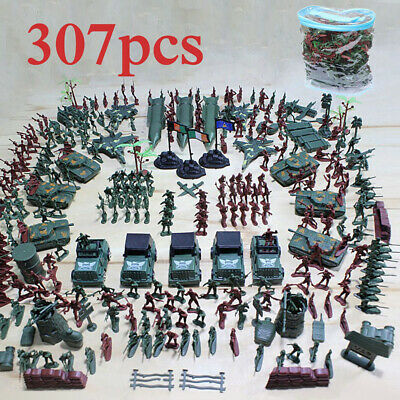 307pcs Military Model Playset Toy Soldier Army Men Action Figures • 11.99£