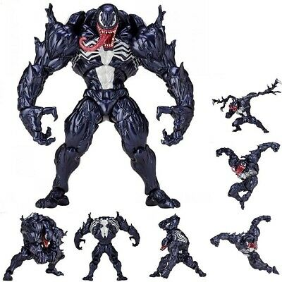 Marvel Spider Man Venom Revoltech Series PVC Action Figure Model Toys Collection • 16.99£