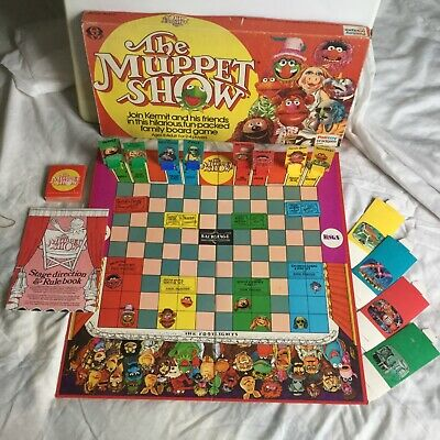 MUPPET SHOW Board Game, 1977, COMPLETE, Palitoy, ATV. Please See Pictures. • 8£