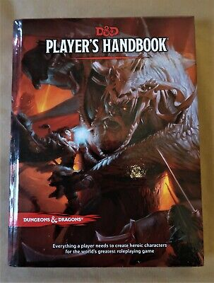 D&D Player's Handbook Fifth Edition UNUSED DUNGEONS AND DRAGONS • 30£