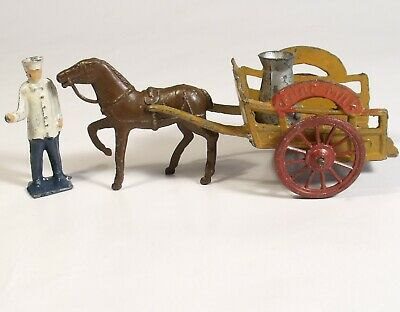 VINATGE C1935 CHARBENS PURE MILK CART FLOAT Pre War Complete Farm Cart • 29.99£
