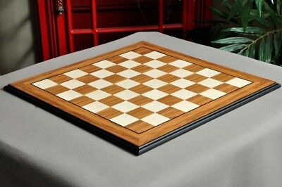 Olivewood & Bird's Eye Maple Standard Traditional Chess Board - 2.5  • 149.95£