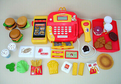 McDonalds Vintage Huge Role Play Toy Bundle Fast Food Till Cash Register Sounds  • 199.99£