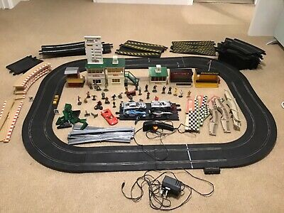 Scalextric Job Lot Of Cars,track,buildings,figures • 75£