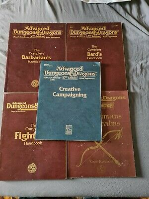 5 Advanced Dungeons & Dragons 2nd Edition Rules Supplements TSR • 6.50£