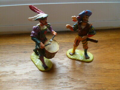 Elastolin, 2 Vintage 16th/17th Century Style Figures / Soldiers • 10£