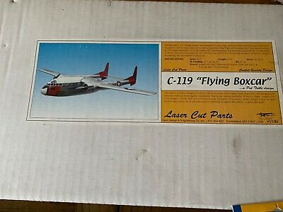 Rc Plane Balsa Kit C-119 Flying Boxcar By Dare • 95£