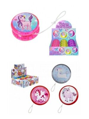 2X Light Up Unicorn Yoyo-Children Fun Girls Gift Pocket Money Party Bag Filler • 9.99£
