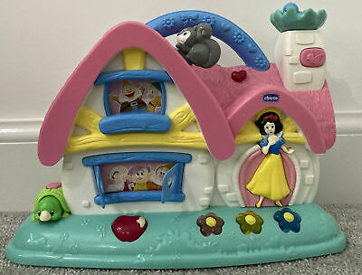 Chicco Snow White Disney Princess Musical Cottage Activity Baby Lights Sounds • 14.95£