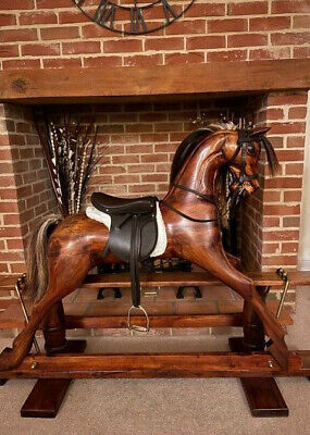 'Bandit'  Beautiful Wooden Rocking Horse, Circa 2000  - FREE DELIVERY • 1,645£