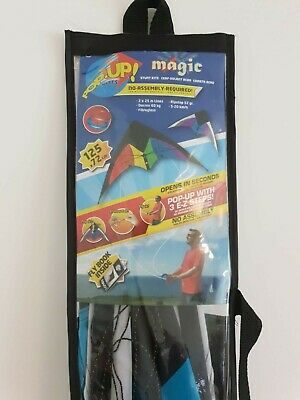 Stunt Kite Eolo Sports Pop-Up Kites Magic Purple And Blue Ready To Fly, 2 Line • 10£