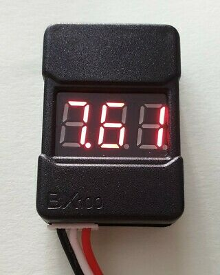 Hot RC LiPo Low Voltage Alarm & Cell Voltage Checker Tester  2-8s UK Fast • 3.99£