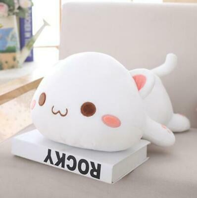 Kawaii Lying Cat Plush Toy Stuffed Cute Cat Doll Lovely Animal Kids Holiday Gift • 17.56£