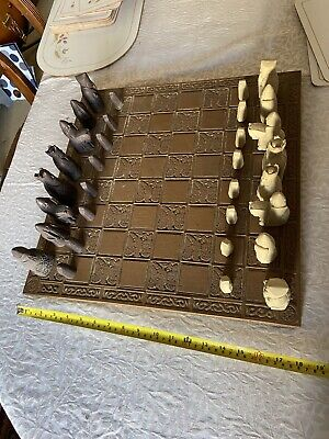 Isle Of Lewis Style Chessmen And Board • 34£