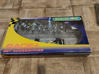 Scalextric C8294 Race+ Pit Crew Silver Boxed With Working Car • 5£