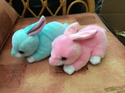 2 X TY Beanie Velvety Rabbits Walker/Jumper 2017 Plush Perfect Condition No Tag • 3£