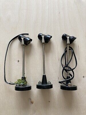 Scalextric Vintage Lamps Spot Flood Lights X3 For Diorama • 1.20£