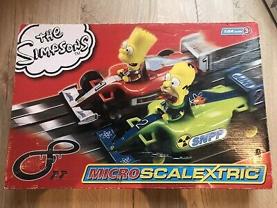 The Simpsons Micro Scalextric Hornby Good Condition Simpson's Collectable • 13.95£
