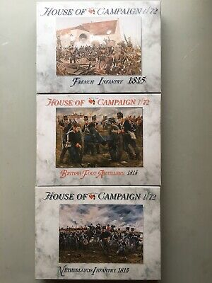 A Call To Arms House Of Campaign 1:72 3 Boxes French Netherlands British 1815 • 19£