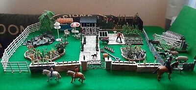 Vintage Britains Floral Garden Large Amount Animals And Figures Included. • 399.99£