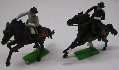 2 Cival War Horse Back Soldiers From 1971 Britains In Good Condition • 4.99£