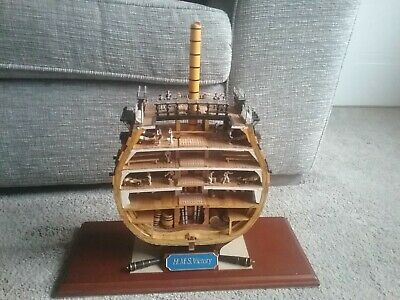 HMS VICTORY 1805 Cutaway Section Wooden Model • 110£