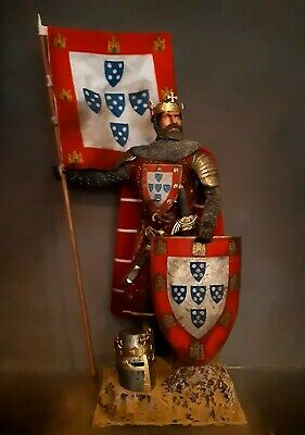 12  Custom Afonso Iii King Of Portugal,  Medieval Knight 1/6 Figure Ignite • 76.09£