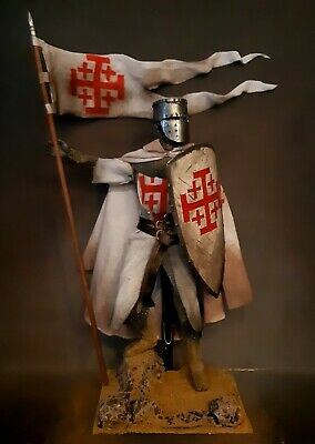 12  Custom Medieval Knight Of The Order Of The Holy Sepulchre 1/6 Figure Ignite • 76.09£