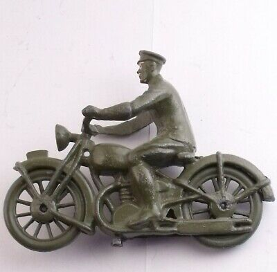 Vintage Britains Lead Military Motorcycle Very Good Condition B • 24.99£