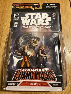 Star Wars Comic Packs Luke Skywalker + Mara Jade Action Figure 2 Pack #5 New Mib • 40£